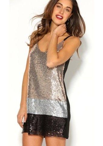 Trblietavé šaty na úzke ramienka #ModinoSK