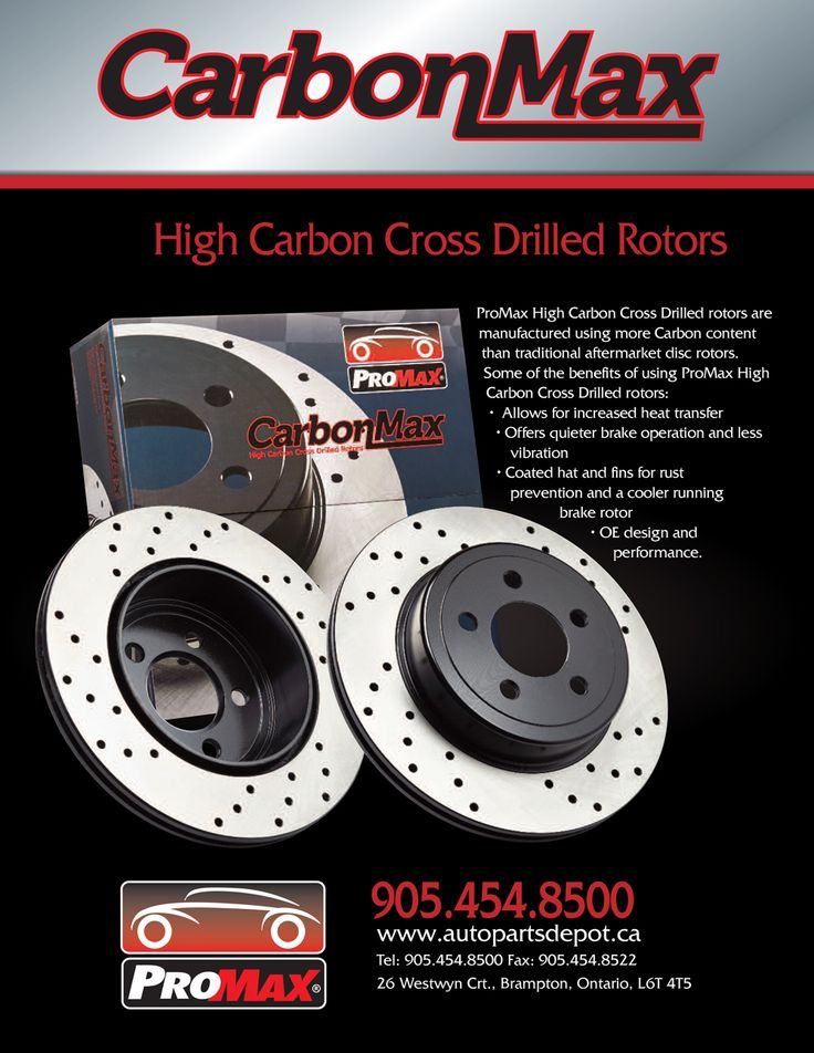 Introducing CarbonMax by ProMax!!! • Allows for increased heat transfer • Offers quieter brake operation and less vibration • Coated hat and fins for rust prevention and a cooler running brake rotor • OE design and performance. • OE design and performance https://aadiscountauto.ca/…/16/carbonmax-rotors-by-promax.h… #promax #highcarbon #crossdrilled #rotors #promaxrotors #aadiscount #hamiltonrotors #rotorsale #newrotors #autoparts