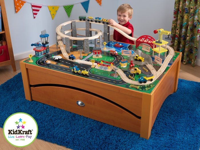Wonderful Honey Metropolis Train Table And City Train Set .