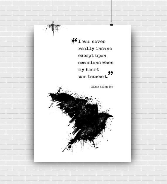 Edgar Allan Poe art print. Artistic illustrated by GraphicCorner