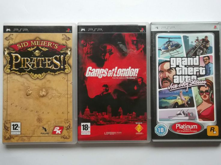 Sony Playstation PSP 3 Games Lot GTA Vice City Stories Pirates Gangs of London