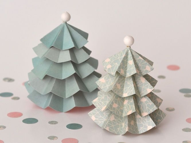 137 best diy sapin de no l en papier carton images on - Papier origami noel ...