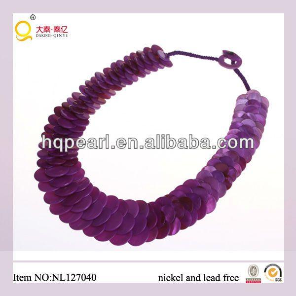 la moda de joyería collar de hecho de las escamas de pescado en forma de cuentas de concha-imagen-Collares-Identificación del producto:850529970-spanish.alibaba.com