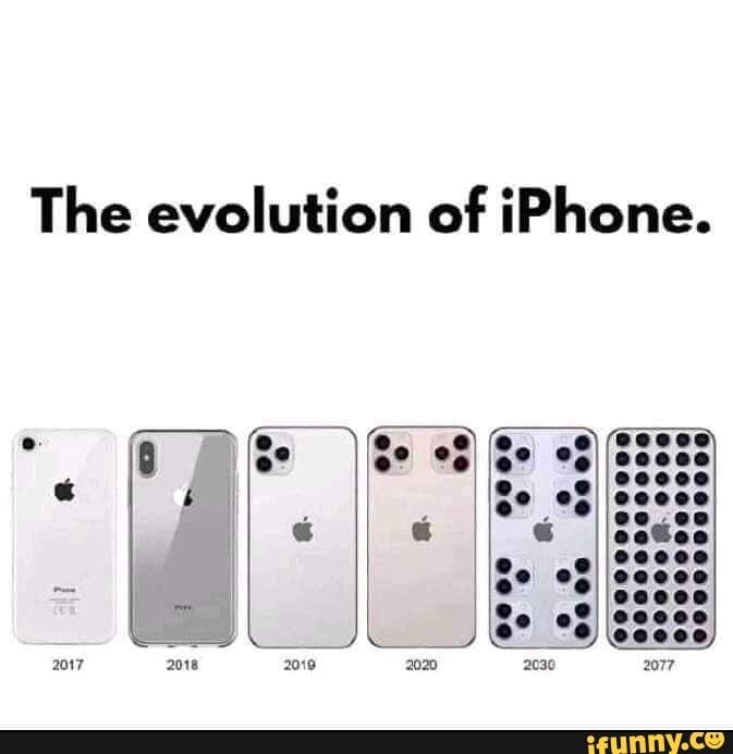 The Evolution Of Iphone Ifunny Funny Memes Science Humor Popular Memes