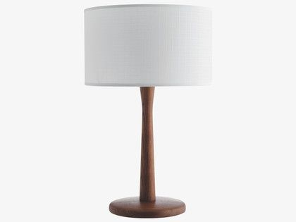 PIP BROWNS Ash Walnut stained table lamp base - HabitatUK