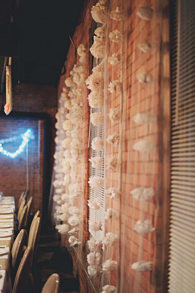 A Winter wedding in Watertown, New York - DIY decor