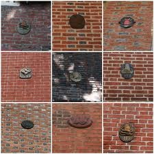 Fire Marks. Including Benjamin Franklin's American Fire Brigade, these were bought in advance by home owners who were subscribers in exchange for fire protection from insurance companies. These were placed so they could be seen by responding volunteers. Before the concept of professional fire companies, this was how volunteer companies collected revenue.  The first professional fire company was the Philadelphia Fire Department, established in 1871 and still active today.