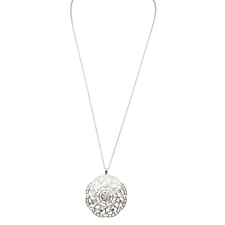 Jardin Daisy Necklace Silver