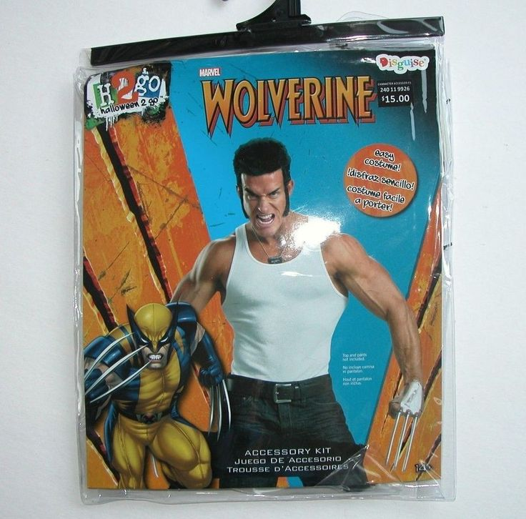 Marvel Wolverine Halloween Costume Accessory Kit Claws Side Burns Dog Tag #1283 in Clothing, Shoes & Accessories, Costumes, Reenactment, Theater, Accessories | eBay