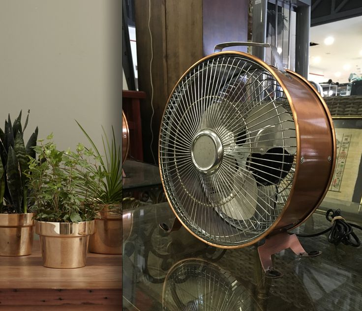 Get the industrial look in your home with this copper style table fan, going under the hammer Sunday at 2:00 pm!