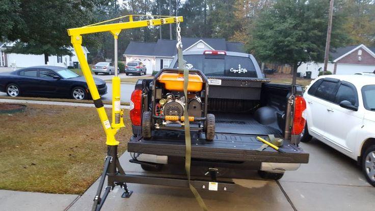 "MaxxTow Hydraulic Pickup Truck Crane for 2"" Hitches - 1,000 lbs MaxxTow Truck Bed Accessories MT70238"