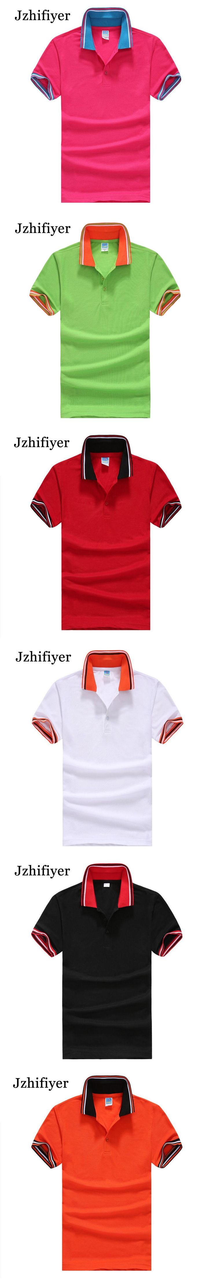 Jzhifiyer blusas camiseta masculina de marca TC 180GSM Eyelet men's Short-sleeve loose polo shirts Turn-down collar polo men