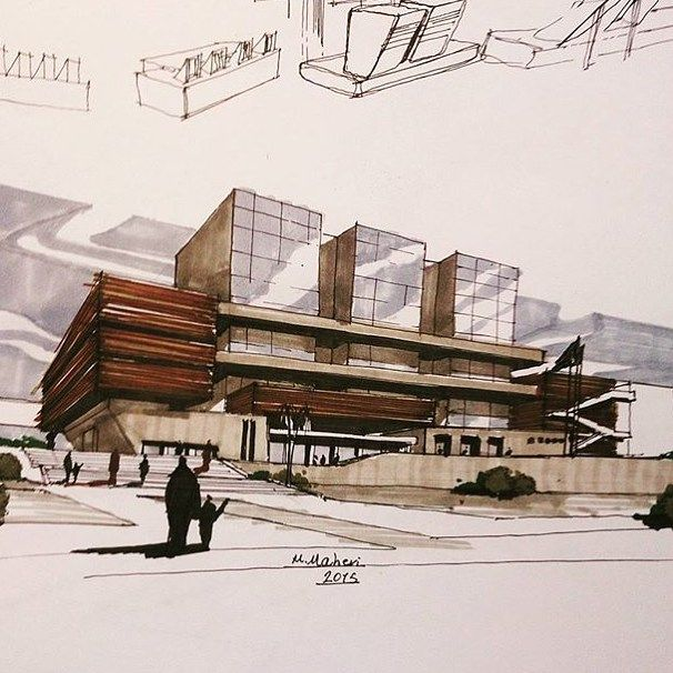 By @meghdad.maheri #sketch_arq #architecture #design #ideas…                                                                                                                                                                                 More