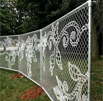 Woven fence to look like lace