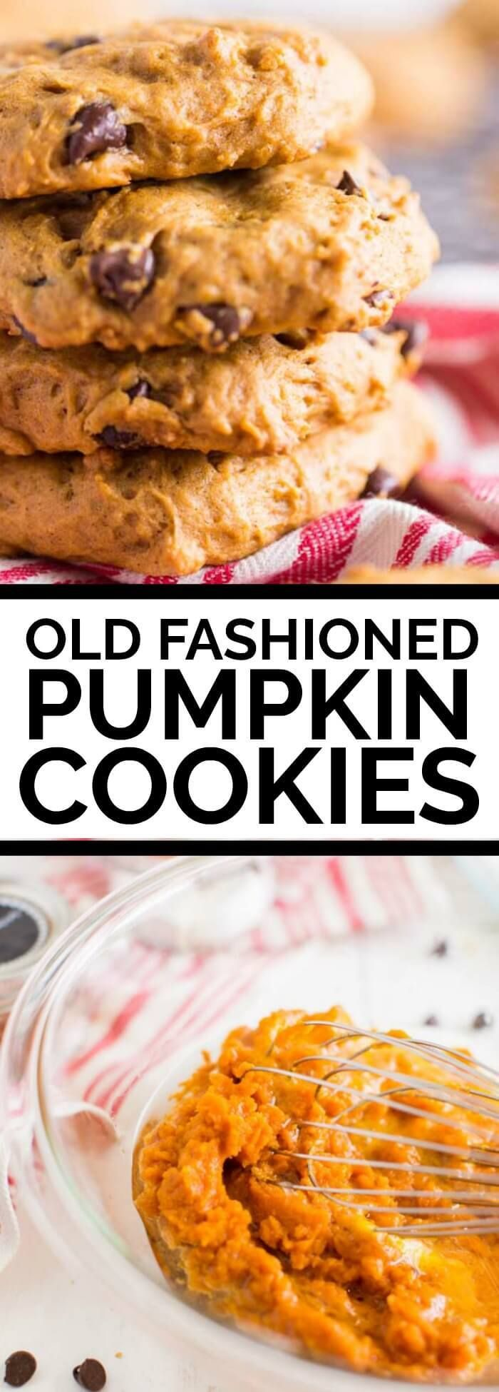 Soft Old Fashioned Pumpkin Cookies via @spaceships…  Yummy! A bit cakey, but delicious. I got 3 dozen out of this recipe.