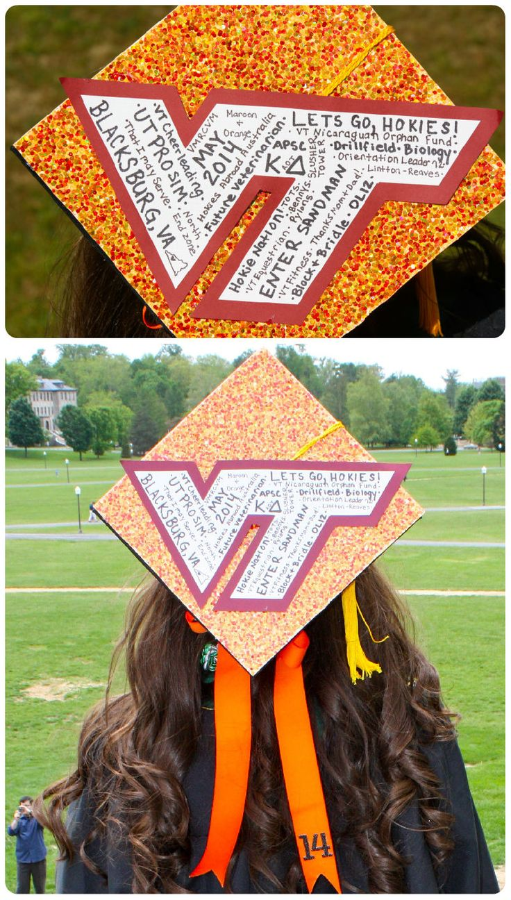 Graduation Cap to include what VT meant to me!