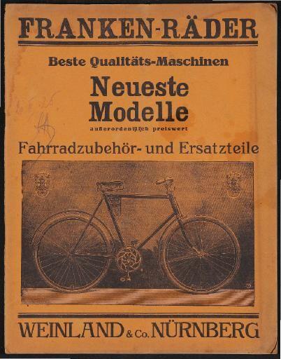 Franken Rader Katalog 1925 In 2020 Rad Fahrrad Schutzblech