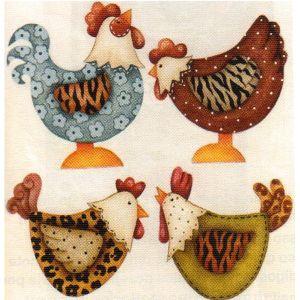 Auto adesivo galinha