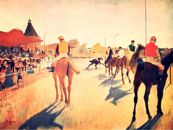 Cavalli da corsa davanti alle tribune, Edgar Degas