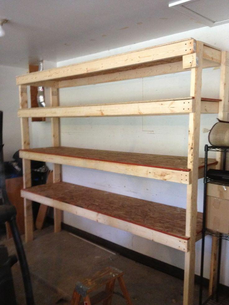 10 best diy garage shelves for your inspiration images on for Diy shelves pinterest
