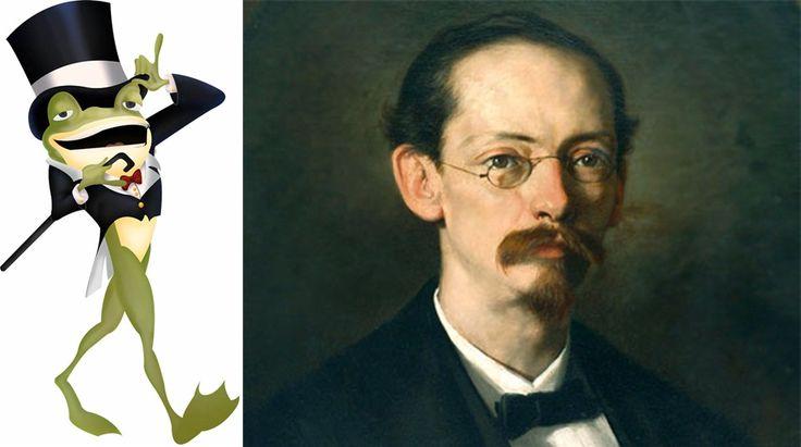 Rafael Pombo; El hijo de rana, Rinrín renacuajo salió esta mañana muy tieso, muy majo. Con pantalón corto, corbata a la moda sombrero encintado y chupa de boda….
