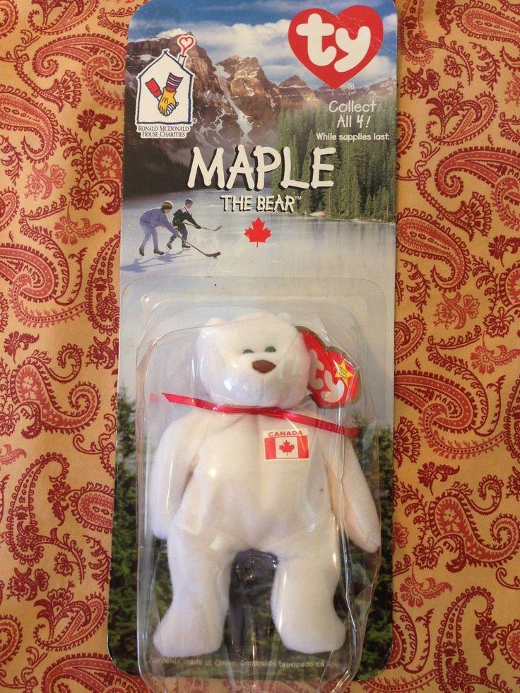 TY McDonalds Beanie Babies Baby Maple the Bear Canadian Canada 1999 | eBay