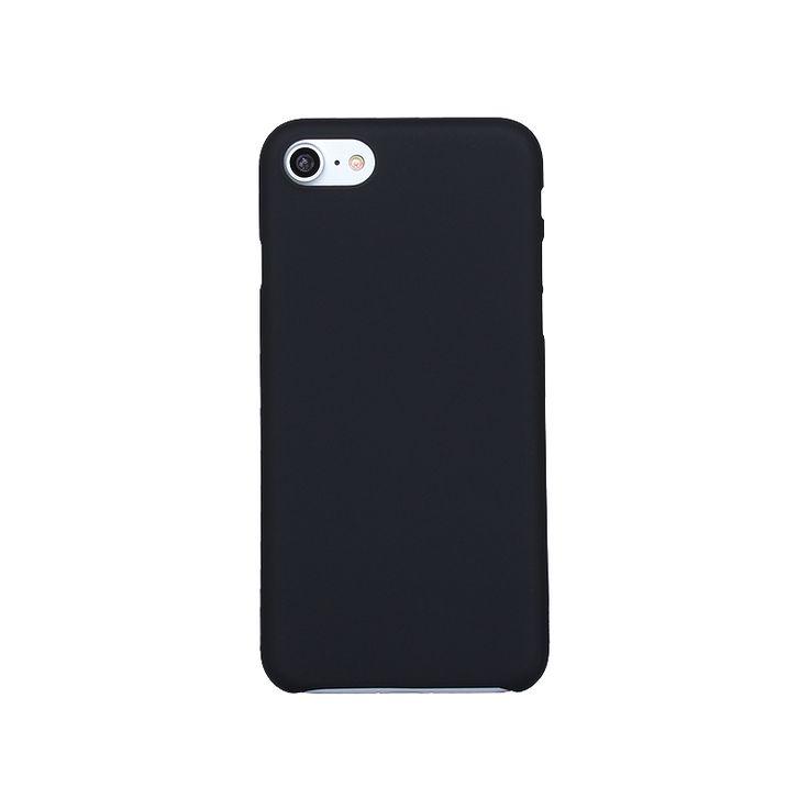 Lujo ultra delgado case para iphone 7 xinbo 0.8mm delgado transparente cajas del teléfono de plástico duro de la contraportada para iphone 7 couqe negro