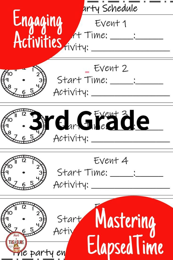 small resolution of Make teaching elapsed time for 3rd grade easy and engaging with these  reference sheets