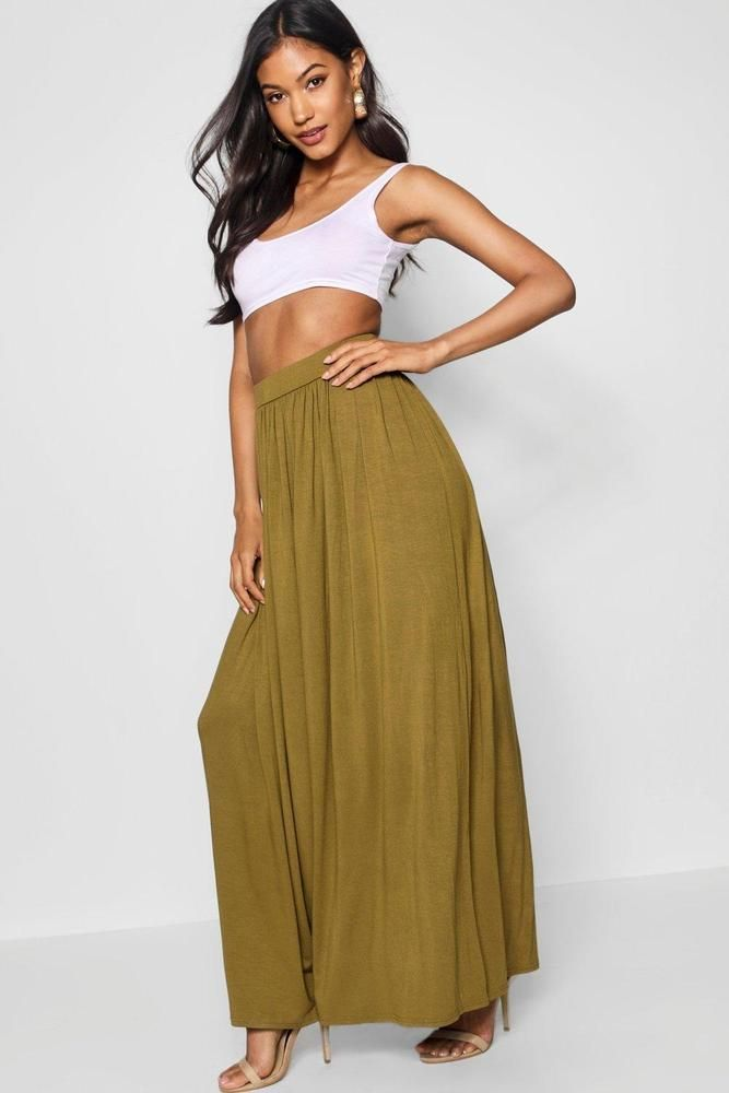 4d6e8e44bb Boohoo Sophia Floor Sweeping Jersey Maxi Skirt Olive Size UK 10 DH180 NN 09  #fashion #clothing #shoes #accessories #womensclothing #skirts (ebay link)