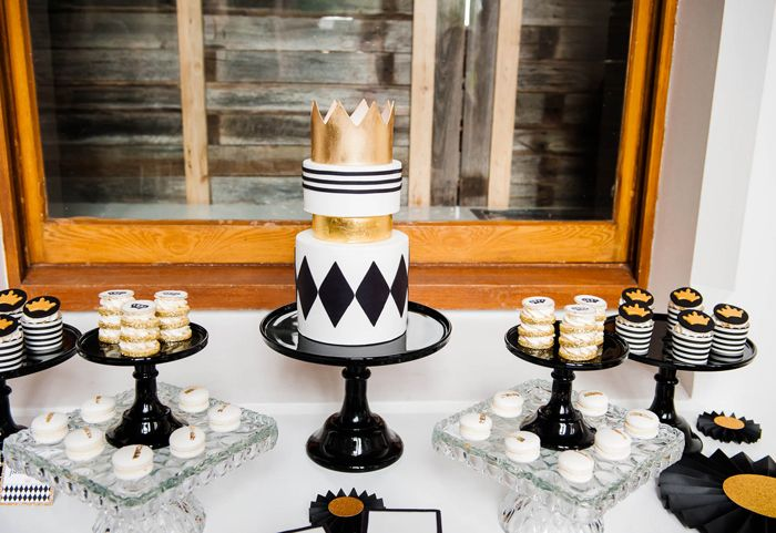 """Fit For A Prince Baby Shower   Dessert Table - Could """"princess"""" this up a bit!"""
