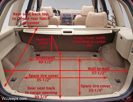 jeep grand cherokee rear cargo shelf - Google Search                                                                                                                                                                                 More
