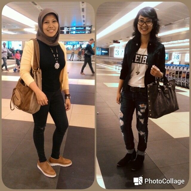 OOTD travel to SinG..!