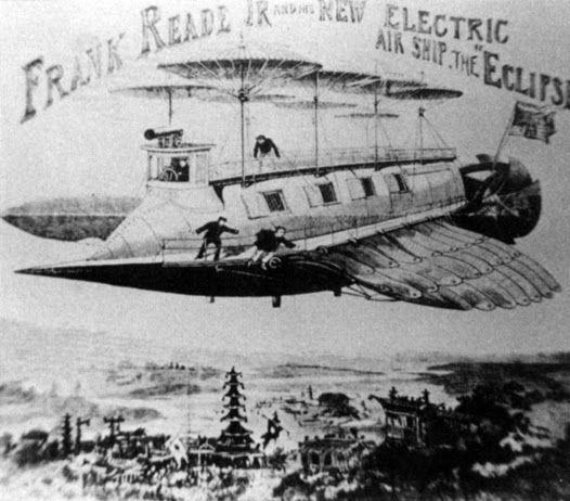 Aquella época en que Julio Verne provocó un susto OVNI  por Ron Miller      El Albatross de Robur El Conquistador (Crédito: Ron Miller/io9....