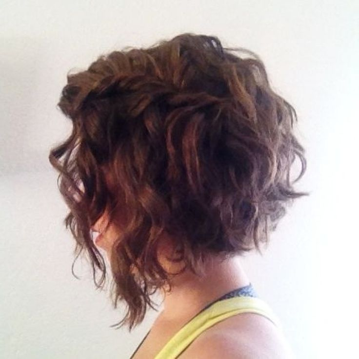 1000 Ideas About Curly Angled Bobs On Pinterest Short Curly pertaining to inverted bob haircut for curly hair