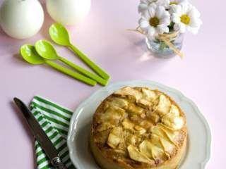 Pastel invertido de manzana