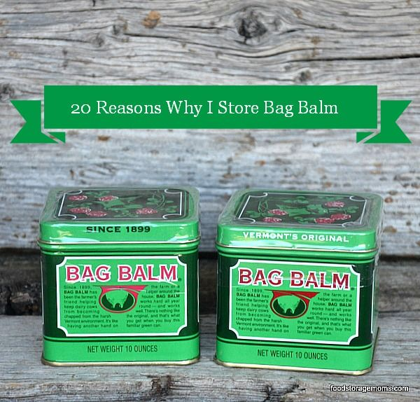 20 Reasons Why I Store Bag Balm and why you should store it in your emergency preparedness supplies. The product was first introduced in 1899 in Vermont. The formula was purchased by John L. Norris. I…