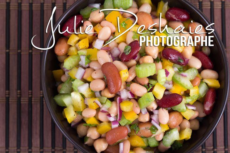 Salade de légumineuse et de légumes la recette ici ! #recette #légume #legumineuse #haricot #bean #food #cuisine