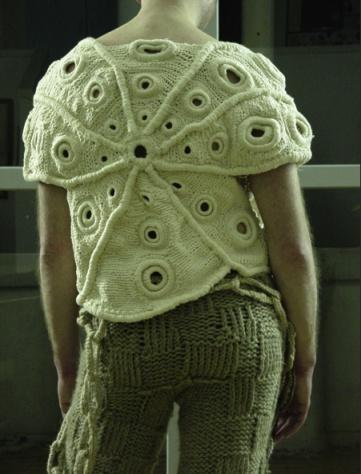 by Stephane Martello: Crochet Fashion, Crochet Art, Sea Inspiration Knitwear, Inspiration Crochet, Stéphane Martello, Stephane Martello, Crochet Fabulously, Creative Knitwear, Knits 3D