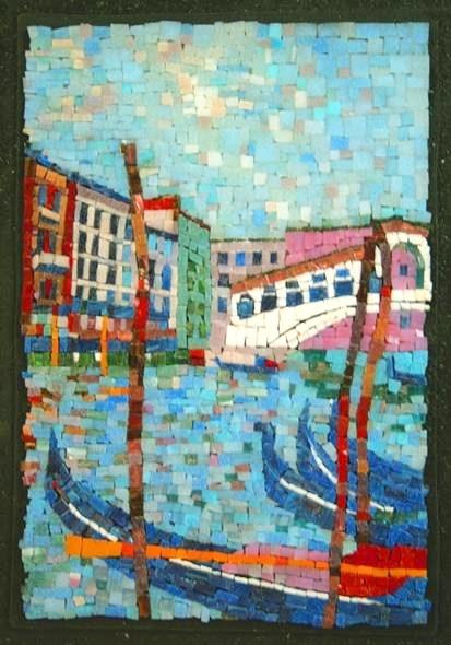 Mosaic - Rialto Bridge - Venice - by Sergey Maslennikov
