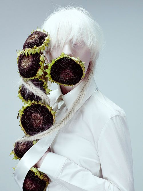 資生堂、花をテーマにした創作ヘア&メーキャップ写真展 - ビジュアルに松岡モナを起用 - 写真4   ファッションニュース - ファッションプレス