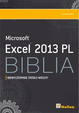 """Excel 2013 PL.Biblia""  #helion #Microsoft #Excel #ksiazka"