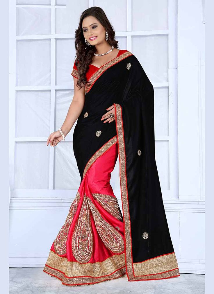 Black Wholesale Sarees Supplier form Surat  Buy Now @ http://www.suratwholesaleshop.com/index.php?route=common/home