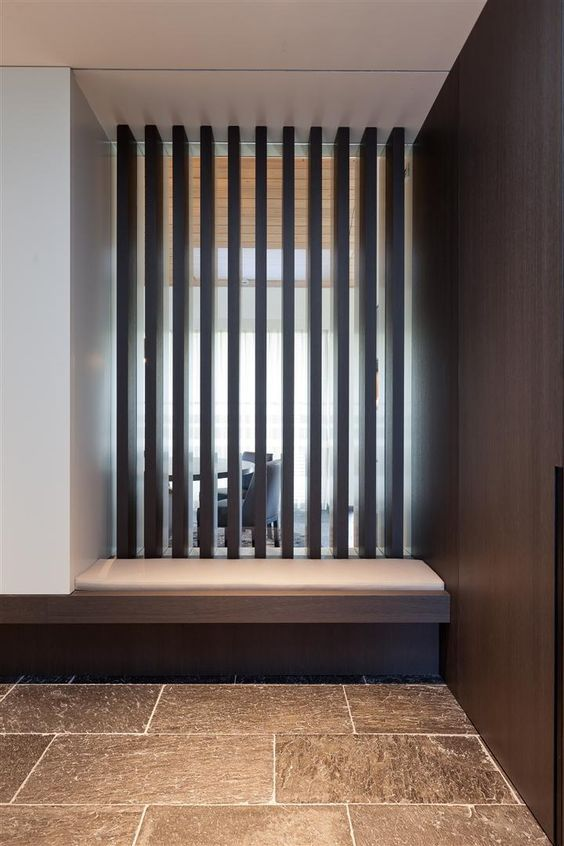 :: DETAILS :: INTERIORS :: adore the work of iXtra Interieur Architectuur | Living spaces. Photo Credit: http://www.ixtra.be  Lovely detailing of wood #details #interiors: