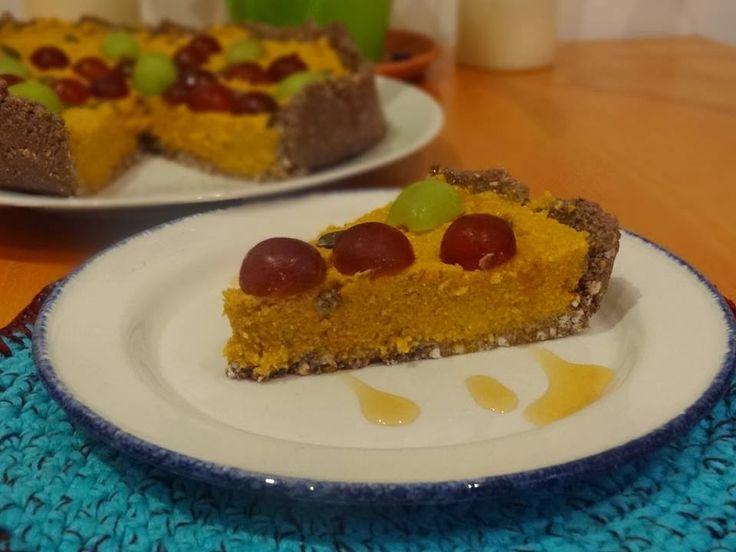 D.I.Y. VEGÁNSKA KUCHÁRKA: Raw tekvicový koláč