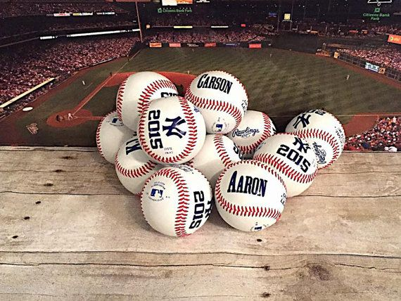 Set of 13 Personalized Team Baseballs-End of by RCVinylDesigns