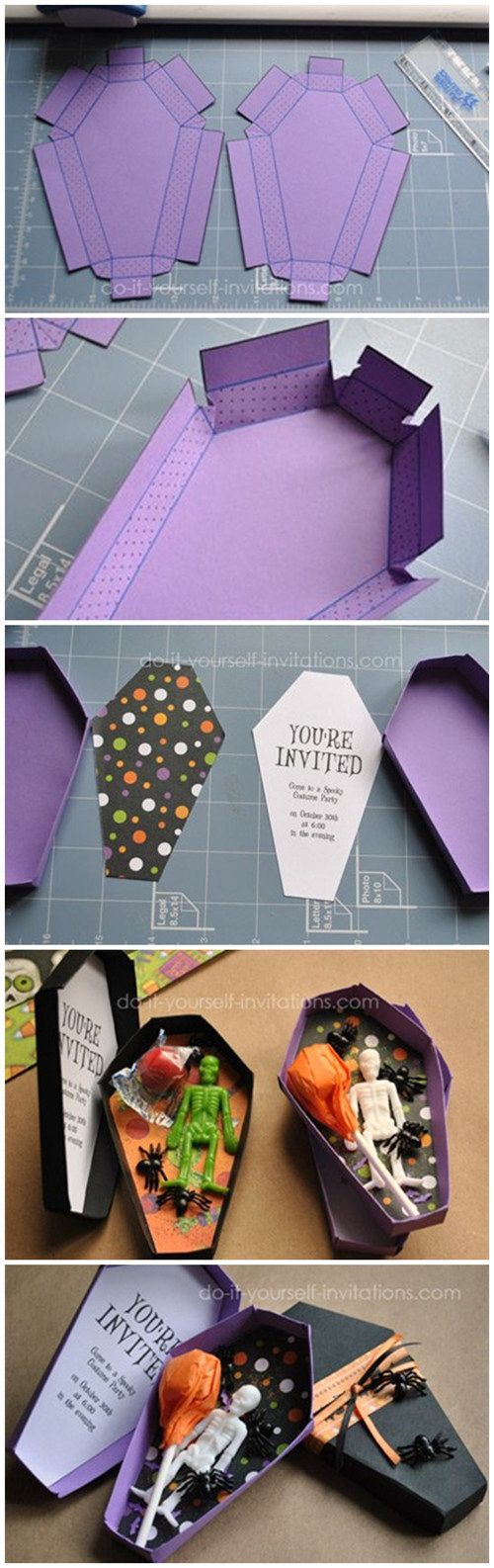 Unique Coffin Invitation With Template
