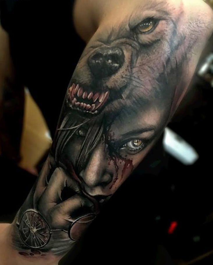#tattoo #wolf #face