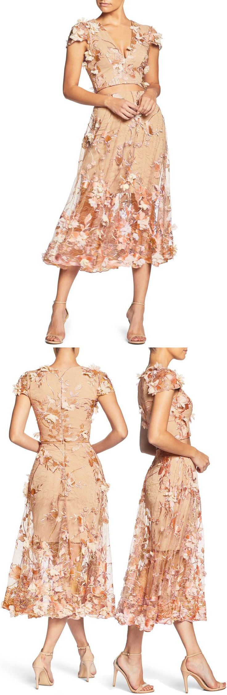 Juliana 3D Lace Two-Piece Dress by Dress The Population #dress #twopiecedress #formaldress #formalgown #eveninggown #fashion #womensfashion formal dress | formal dresses for teens |  Formal Dresses | formal dress |  Formal Dresses | Formal Dress Outfits