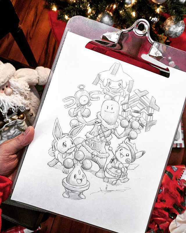 Merry Christmas!! Big thanks to everyone who joined me on the stream 🎄. Here's what we came up with. Keep the good vibes coming this holiday season and enjoy your time with friends and family! Cheers 🍻. #MerryChristmas #Christmas #ChristmasDay #Pokemon #pencil #Drawing