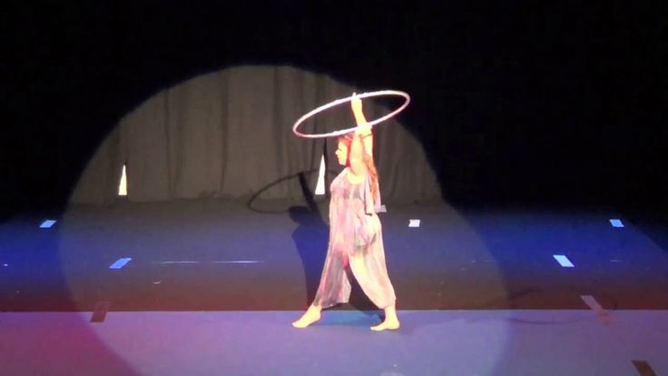 Shimmerelda from RUCCIS performs Hoops at the Burrinja Circus Festival